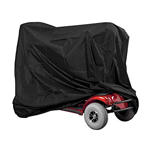 HERCHR Cubierta de Bicicleta, Cubierta para Lluvia al Aire Libre, Cubierta de Protección Impermeable Oxford Funda Protectora para Almacenamiento de Sillas de Ruedas y Scooters 140 x 66 x 92cm