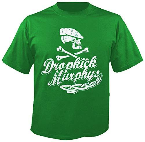 Dropkick Murphys - Scally Skull Ship - Green - T-Shirt Größe S