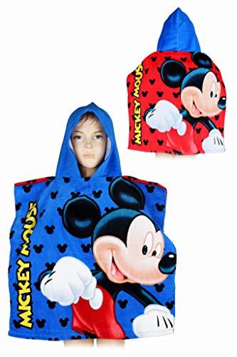 SETINO Poncho Mickey Mouse - Toalla con capucha (55 x 110 cm)