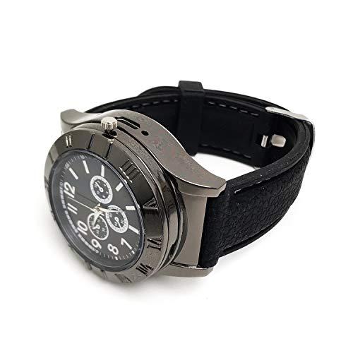 Hildbrandt Mens Military Watch Cigarette Electric Lighter with USB Rechargeable Quartz Wristwatch (Nomad, Gunmetal)