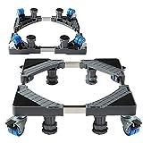 Jinby Rolling Base with 4 Locking Wheels Adjustable Base for Mini Fridge Stand Dryer Washing Machine Base Moving Cart