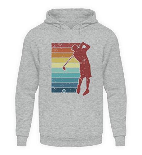 Golf Abschlag Retro Hoodie | Golfer Spieler Golfball Vintage Unisex Kapuzenpullover