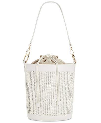 INC International Concepts INC Vanilla Ajae Woven Bucket Crossbody Handbag