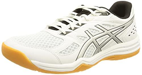 Asics Upcourt 4, Zapatillas de Netball Hombre, White/Pure Silver, 44 EU