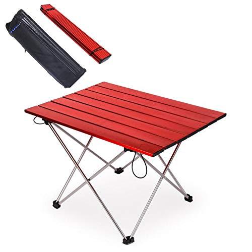 YAOBAO Tragbare Camping Tisch Aluminium Klapptisch Kompakte Rollen Oben Tische mit Tragetasche zum Speisen, Kochen im Freien Camping Wandern Picknick,M