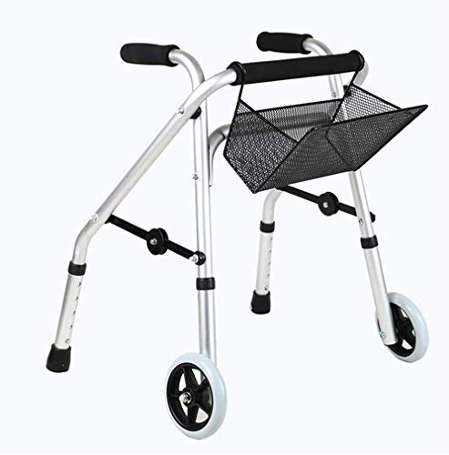 Ouderen walker Drive Medical Walker Opvouwbaar, Child Rehabilitation Rollator Walker, 2 Wheels Kids Mobiliteit loophulpmiddelen, Straight lopen, aluminium legering Kids Walking revalidatie walker