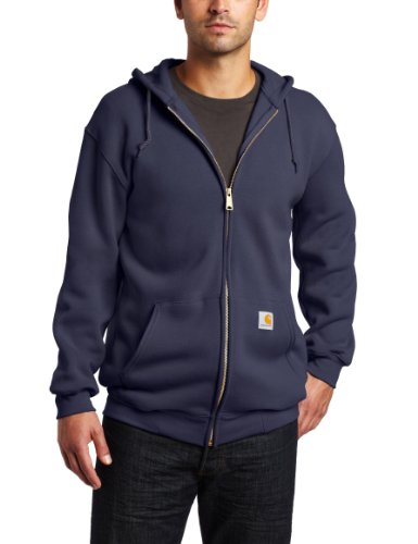 Carhartt Men's Midweight Hooded Zip-front Sweatshirt,New Navy,Large