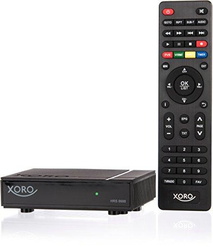 Xoro HRS 8688 digitaler Mini Satelliten-Receiver (HDTV, DVB-S2, HDMI, PVR-Ready, USB 2.0, LAN, VESA 75/100, 12 V, HDMI-Kabel) schwarz