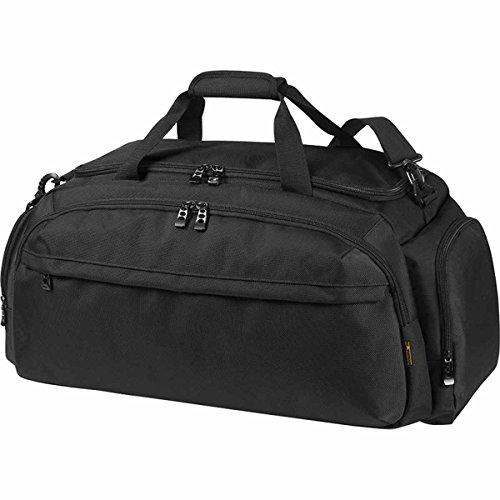 HALFAR - sac de voyage - sac de sport - compartiment séparé pour chaussures - 1809789 (Noir)