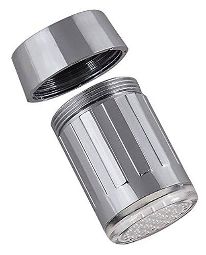 SODIAL(WZ.) 3 Farben Wasser Leuchtend LED Wasserhahn Licht Lampe Temperaturfuehler - 2