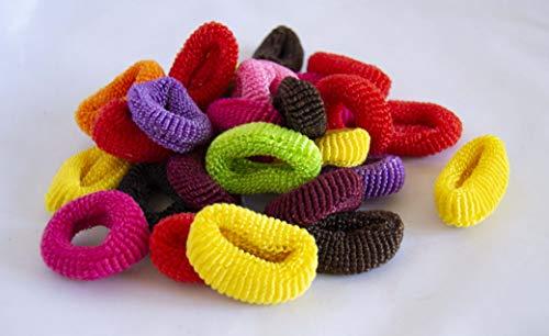 Lot de 15 élastiques de 4 cm de couleurs assorties. Livraison GRATUITE 72h