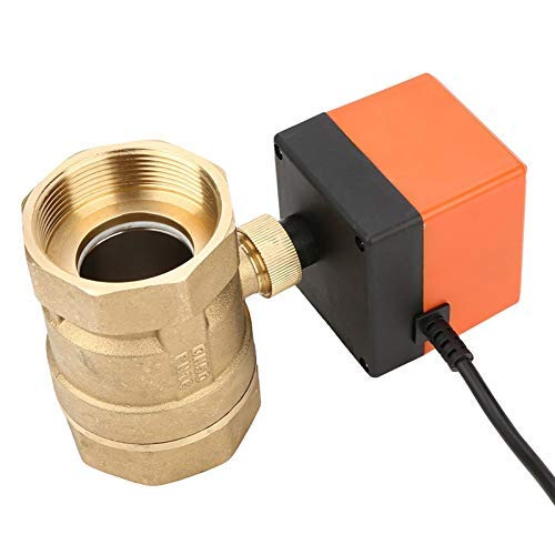 GUOCAO AC 220V G2 DN50 2 vías Control de 2 puntos de control de 2 puntos de latón eléctrico de bola motorizada eléctrica Válvula