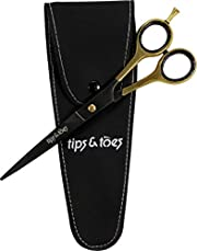 Professional Barber Scissors - Sand Blast Finish, Super Cut- Stainless Steel HRC 48-50 17cm