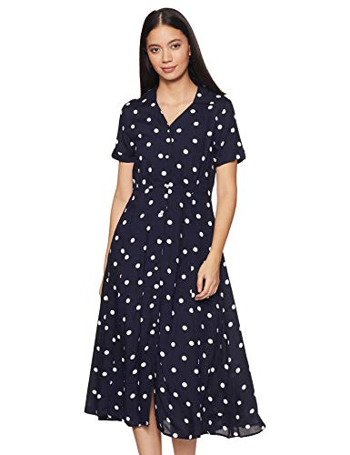Harpa Women's Rayon Shirtdress Midi Casual Dress