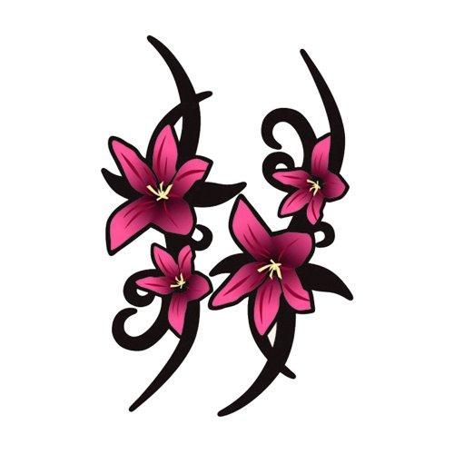 AUTOSTYLE Aufklebersatz Pink Tribal Flowers - 2X 23x9cm
