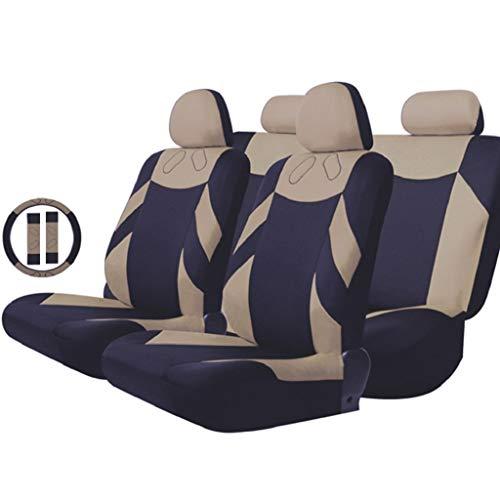 Oldtimer-Sitzbezug, 13-teiliger Bausatz, Die meisten Fahrzeuge im Allgemeinen, Mit Lenkradbezug und Gurtbezug,Beige