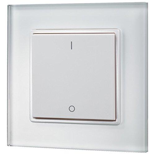 iluminize Design Wand-Dimmer Funk: mit Wippschalter zur Steuerung von weißen LEDs, 1 Zone, 3V batteriebetrieben, KEIN Universal-Dimmer: Funk Controller ist erforderlich! (1 Lichtzone)