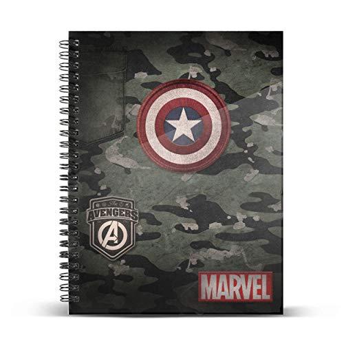 Capitán América Army-Cuaderno DIN A4