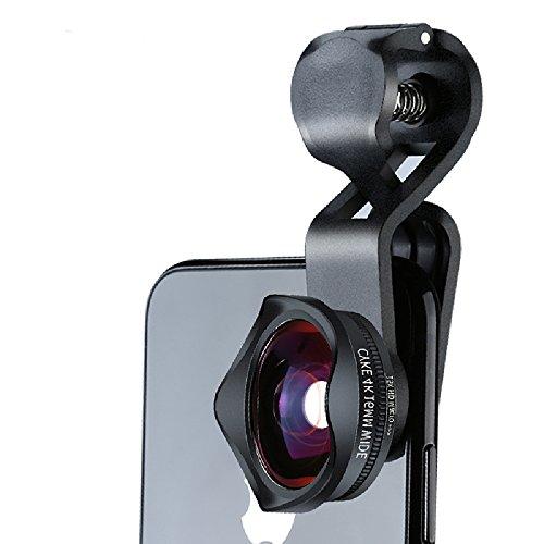 CNMF cameralens voor mobiele telefoon, 2-in-1, inclusief 110o groothoeklens en 15x macro-lens, geschikt voor en de meeste smartphones (Fisheye lens).