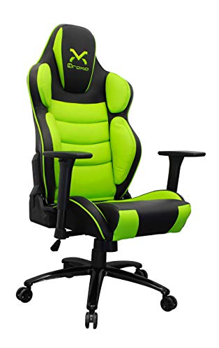 3GoSilla Gaming TROUN Pro Color Negro con Detalles EN Verde Base Metalica APOYA Brazos 3D Ajustable
