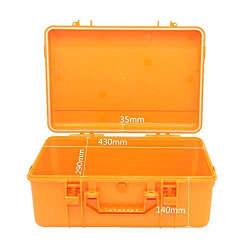KoelrMsd Caja de Herramientas sellada de plástico ABS a Prueba de Golpes Equipo de Seguridad Caja de Herramientas Maleta Caja de Herramientas Resistente a Impactos 450x305x186mm