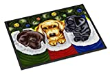 Caroline s Treasures AMB1315MAT Christmas Stocking Surprise Labrador Indoor or Outdoor Mat 18x27, 18H X 27W, Multicolor