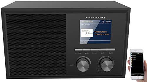 VR-Radio WLAN Radio: WLAN-Internetradio mit 2 Weckzeiten, Farbdisplay, Holzgehäuse, 6 Watt (Netzwerk Radio)