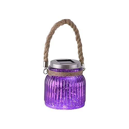 LED Garten-Leuchte, 11x11 cm, 1 Watt, Outdoor-Lampe, Solar, Windlicht, Gartendeko, Effektleuchte
