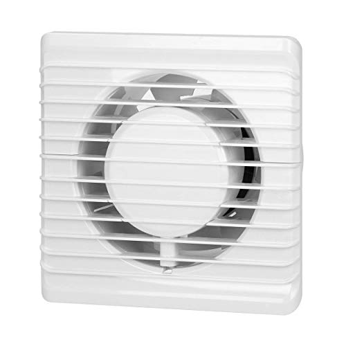 Virone Extractor Aire Para Baño Montaje en pared de 100 mm, funcionamiento silencioso (con sensor de humedad)