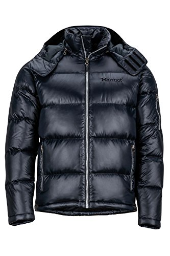Marmot Men's Stockholm Down Puffer Jacket, Fill Power 700, Jet Black, Large