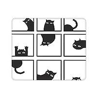 GUIGV マウスパッド 光学マウス対応 滑り止めゴム底 猫 白い 鬼ごっこ 遊び おしゃれ 高級感 防水 面白い 小型 30x25x0.3cm