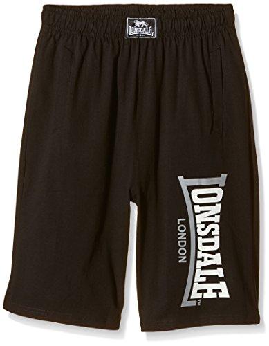 Lonsdale Herren Sport Shorts Shorts Logo Jam schwarz (Black) Medium