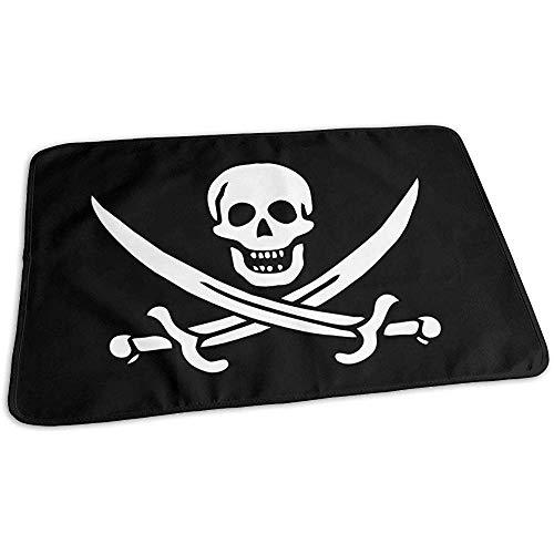 Matelas À Langer Bebe,Coussin À Langer Pour Assistant De Crâne De Pirate Pour Lit De Voyage À Domicile 50x70cm