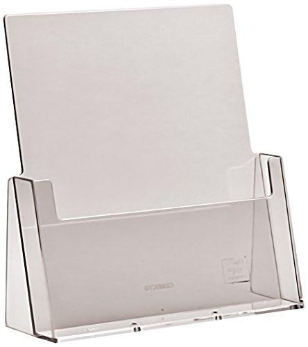 Prospektständer, 1 Fach, für Prospekte und Broschüren in A4, Transparent