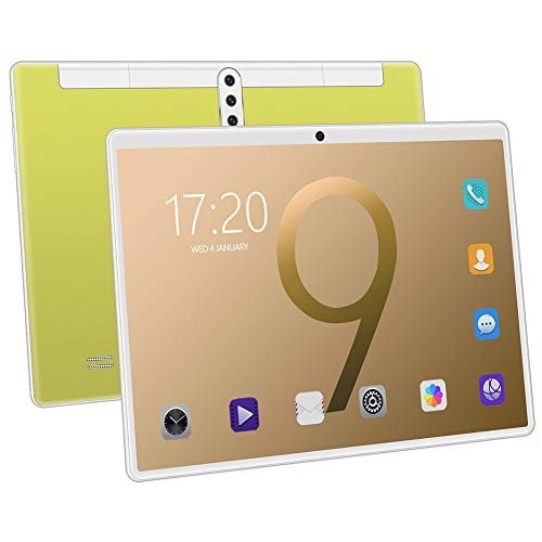 ELLENS Tableta de 10 Pulgadas, Tableta Android Quad Core, Phablet 3G con Ranuras para Tarjetas SIM Dobles, Soporte Netflix Youtube Bluetooth, GPS, WiFi