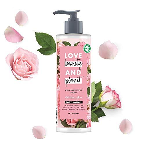 Love Beauty and Planet Lait pour le Corps, Beurre de Muru Muru Naturel et Rose, Eclat Délicat, Certifié Vegan, Bouteille Recyclable 400 ml