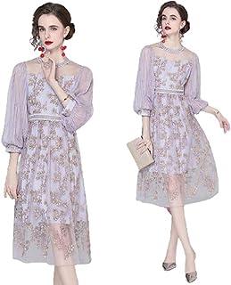 ملابس نسائية عالية الجودة ملابس صيفية جديدة من الدانتيل برقبة دائرية - للنساء صيفي برقبة دائرية