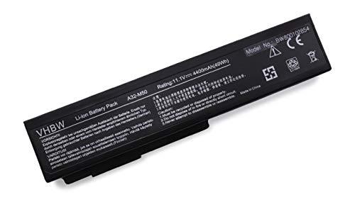 vhbw Batterie Compatible avec ASUS N61JQ-JX021V, N61JQ-JX021X, N61JvN61VF, N61V, N61VG, N61VN, X64VG Laptop (4400mAh, 11,1V, Li-ION, Noir)