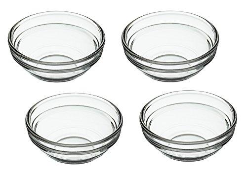 Kitchen Craft - Ciotole in Vetro, Set da 4, Trasparenti