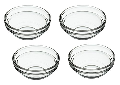 Kitchen Craft - Ciotole in Vetro, Set da 4, Trasparenti
