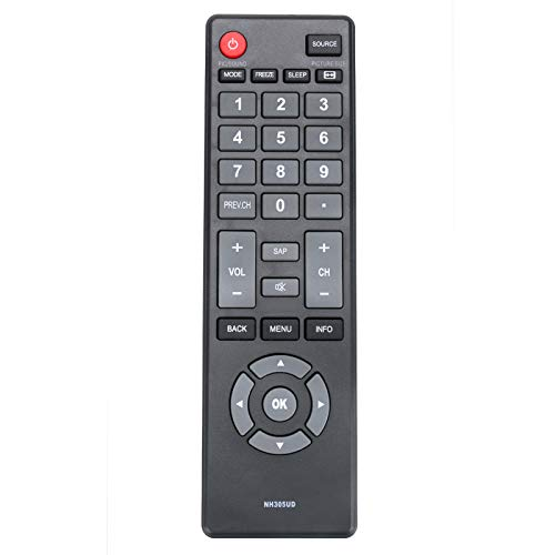 New NH305UD Remote Control Compatible with Emerson LCD TV HDTV LE240EM4 LE240EM4EN LE290EM4 LE290EM4F LE320EM4 LE391EM4 LF391EM4F LF402EM6 LF461EM4 LF501EM5 LF501EM5F LF501EM6F