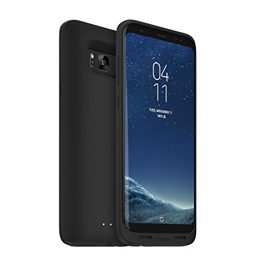 mophie Juice Pack Battery Case – Samsung Galaxy S8 Plus – 3,300 mAh Built-in Battery – Universal Wireless Charging – Black