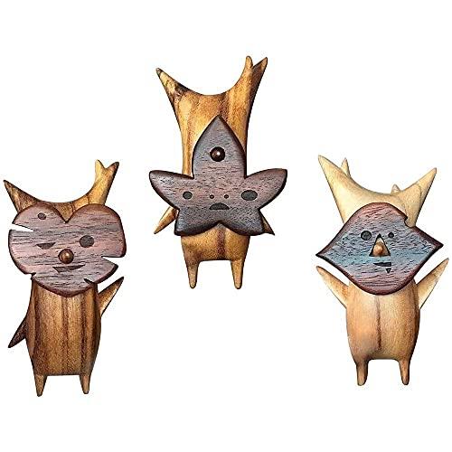 Chagoo Koroks Family Wood,Wooden Korogu Zelda,Pendant Table Ornamen Puppet Toy Handicraft Decoration