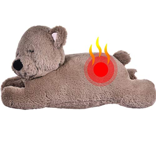Juguete de peluche con función de calentamiento por ritmo cardiaco, aumenta el calor y reduce la ansiedad, entrenamiento de comportamiento, juguete para animales de compañía para dormir