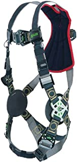 Miller RKNAR-TB/UBK Revolution Arc Rated Harness with Kevlar-Nomex Webbing and Tongue Leg Buckles, Black, Universal Size (Large/XL)
