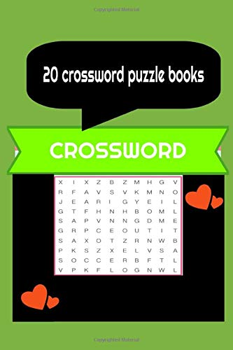 20 crossword puzzle books: crossword puzzle books for adults ,crossword puzzle books for adults 6X9