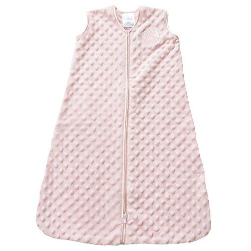 HALO SleepSack Plush Dot Velboa Wearable Blanket, Pink, Medium