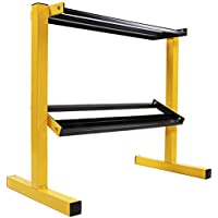 BalanceFrom 2-Tier Easy-Grab Dumbbell Rack Multilevel Weight Storage Organizer for Home Gym