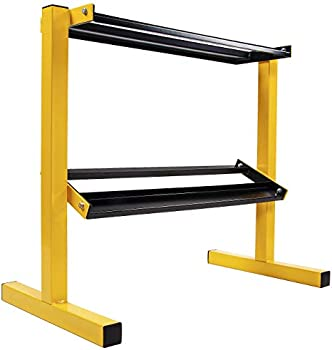 BalanceFrom 2-Tier Easy-Grab Dumbbell Rack Weight Storage Organizer