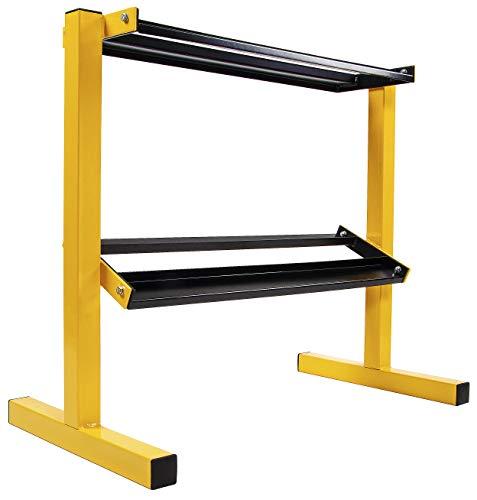 BalanceFrom 2-Tier Easy-Grab Dumbbell Rack Multilevel Weight Storage Organizer